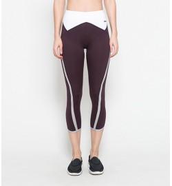 raquellingerie ACTIVEWEAR Sports Pants Averie Maroon Capri Pants