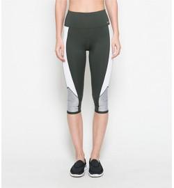 raquellingerie ACTIVEWEAR Sports Pants Estelle Green Capri Pants