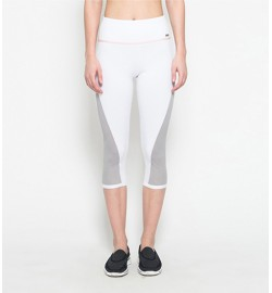 raquellingerie ACTIVEWEAR Sports Pants Sienna White Capri Pants